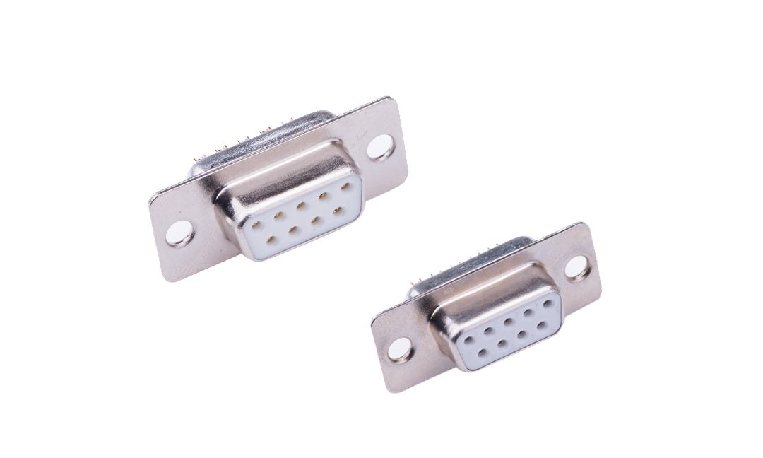 FDM0903-F0  Machined pin D-SUB Female 9Circuits