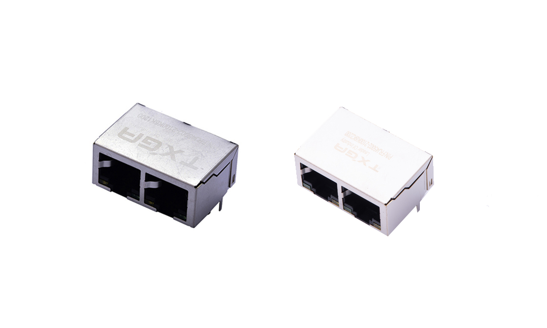 FRJ45002 RJ45 connector -PCB Socket  Double ports  8P8C (DIP)