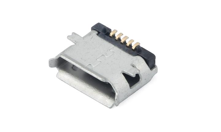 FUS401 Micro USB 5Circuits 90°Angle Female(SMT)(HF)