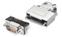 The d-sub connector is a very economical interconnection solution. Support high and low frequency mixed, high current and high density device interconnection. Typical applications include VGA (DA15 female), parallel port (DB25 female), COM serial port (DE9 male, RS232)
