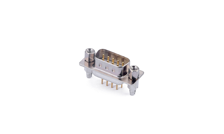 FDM0904-M0  Machined pin D-SUB 180°Vertical Male 9Circuits