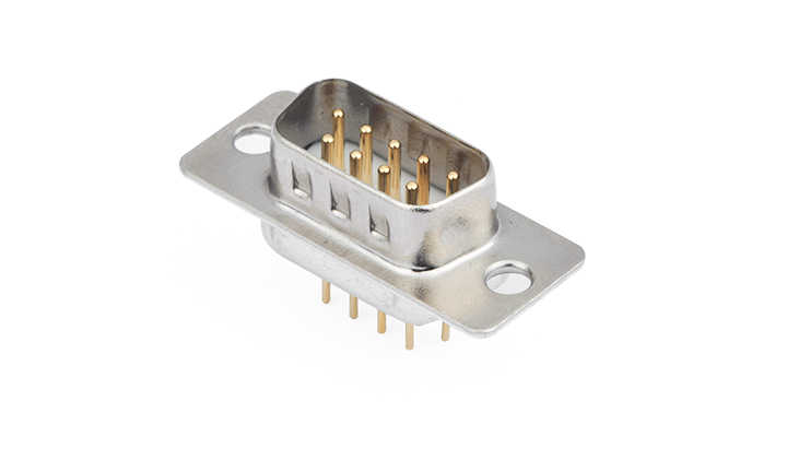 FDM0905-M0  Machined pin D-SUB 180°Vertical Male 9Circuits