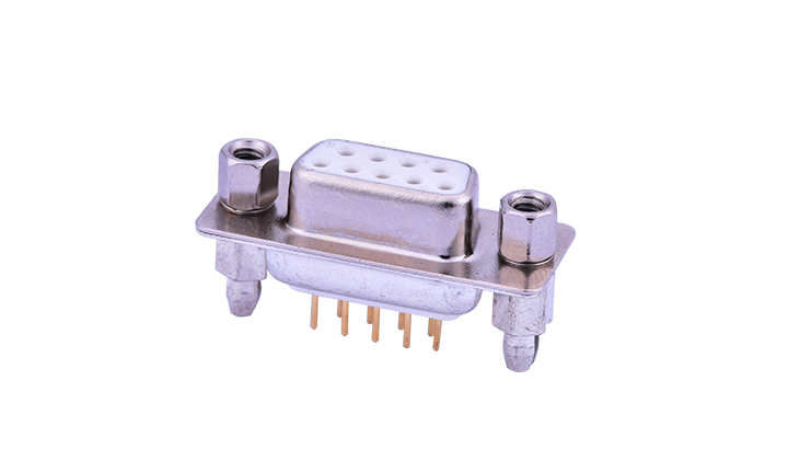 FDM0921-F0  Machined pin D-SUB 180°Vertical Female 9Circuits