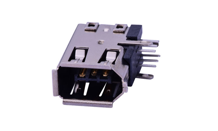 FUS603  IEEE1394 6Pin   90°Angle Female (DIP)